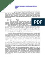 Penentuan Kadar Kalsium Dan Magnesium Dengan Metode Titrasi Kompleksometri