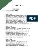 Fixed-programul Returului Campionatului Diviziei d