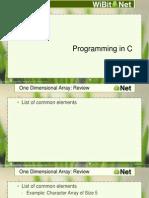 Programming in C - 09 - Arrays
