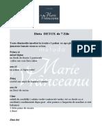 Dieta detox Marie Vranceanu