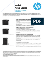 HP Color LaserJet Enterprise M750 Series