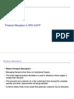 Product Allocation in APO-GATP