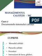 MC Curs 7 Calitate
