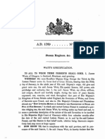 James Watt Patent 1769 No 913