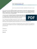 Cover Letter - DM Oct