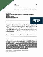 Inaccuracies in Manometric Central Venous Pressure Measurement