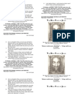 Holy Face of Jesus Pamphlet History