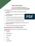 Focus on Building Customer Relationships