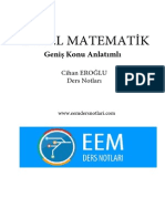 Genel Matematik - Eemdersnotlari.com Cihan EROĞLU Geniş Konu Anlatımlı Ders Notları