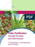 Foliar Fertilization - Scientific Principles and Field Pratices