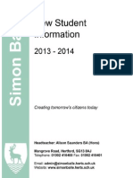 13 14 New Student Information Downloadable Version