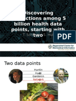 Discovering connections among 5 billion health data points, starting with two