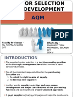 Vendor Selection and Development