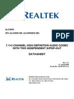 ALC888S DataSheet 1.2