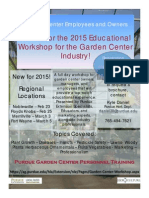 Garden Center Training Registration