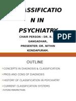 classificatin in psychiatry