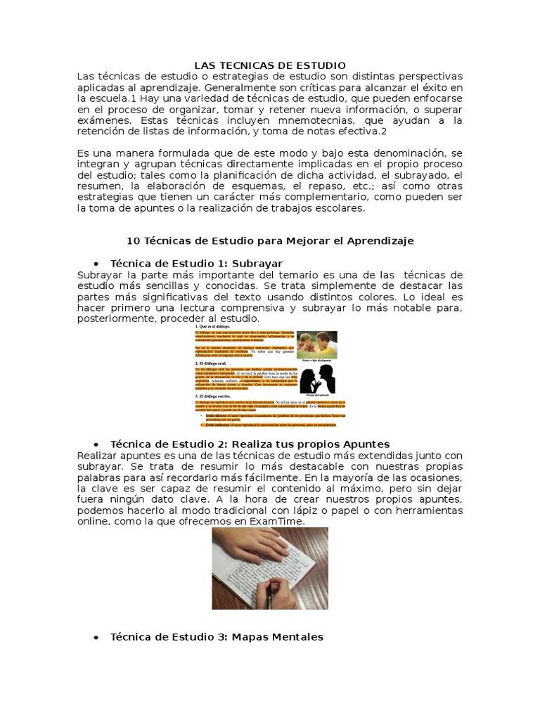 LAS TECNICAS DE ESTUDIO.docx