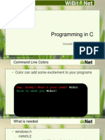 Programming in C - 11 - Console Color Windows