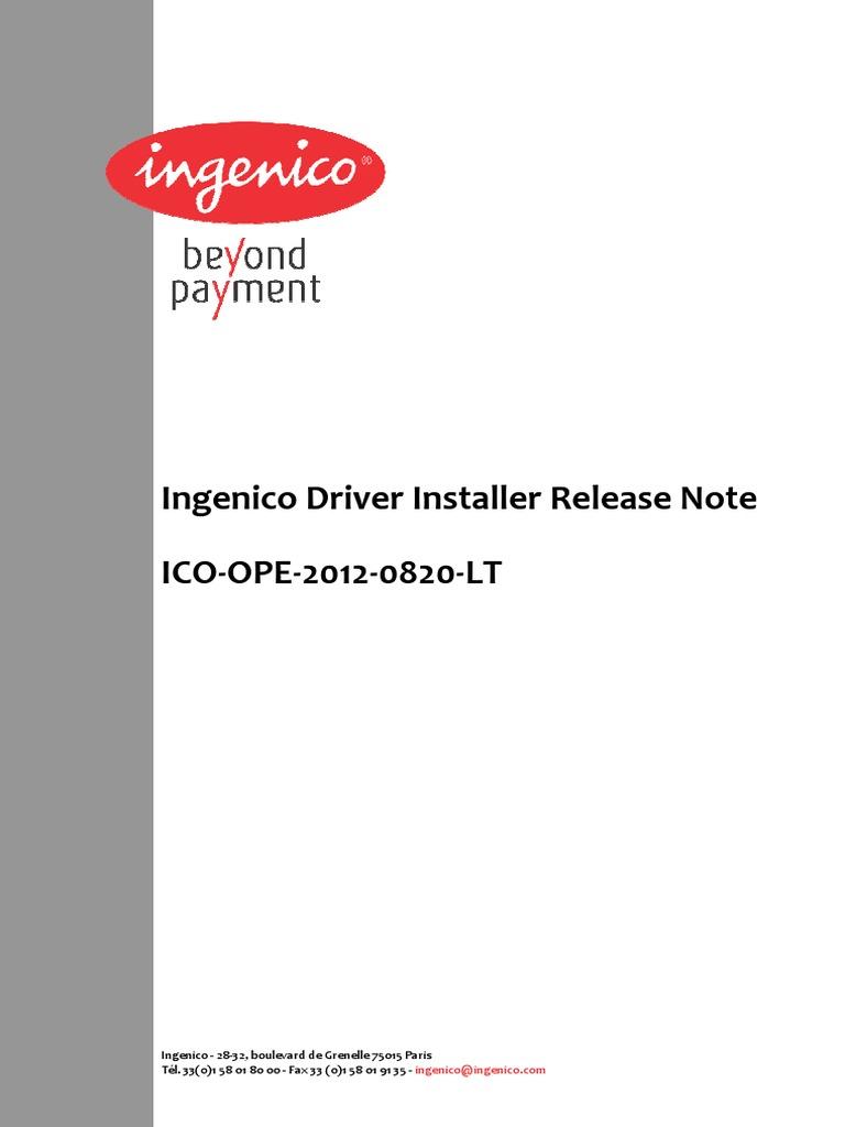 Ingenico drivers download