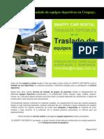 Servicio de Traslado de Equipos Deportivos en Uruguay