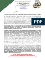 denuncia por muerte de franklin esteban roman  alvarez en argos febrero 1 de 2015