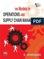 quantitative models in operation and supply chain management, By SRINIVASAN, G.