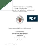 Tesis Doctoral Enseñanza de Lengua Extranjera a No videntes