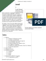 Computador Computador pessoal – Wikipédia, a enciclopédia livrePessoal – Wikipédia, A Enciclopédia Livre