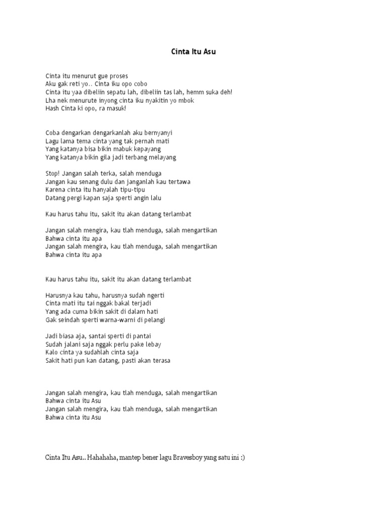 Lirik Lagu Cinta Salah Arsia Lirik