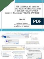 INDICAZIONI PER L'ESTRAZIONE DI COPIA INFORMATICA DAI REGISTRI DI CANCELLERIA - versione MAC