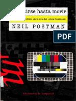 Neil Postman Divertirse Hasta Morir Pdf