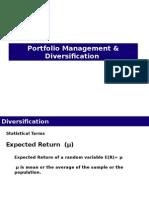 Portfolio Management & Diversification
