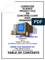 Computer Science Project File