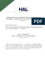 Optimisation de La Logistique Internationale à Horizon Stratégique - Application à Un Constructeur Automobile - Thèse 2011