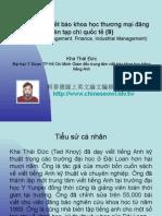 Vietnam 2.39:Tổ chức lớp viết báo khoa học thương mại đăng trên tạp chí quốc tế (9)