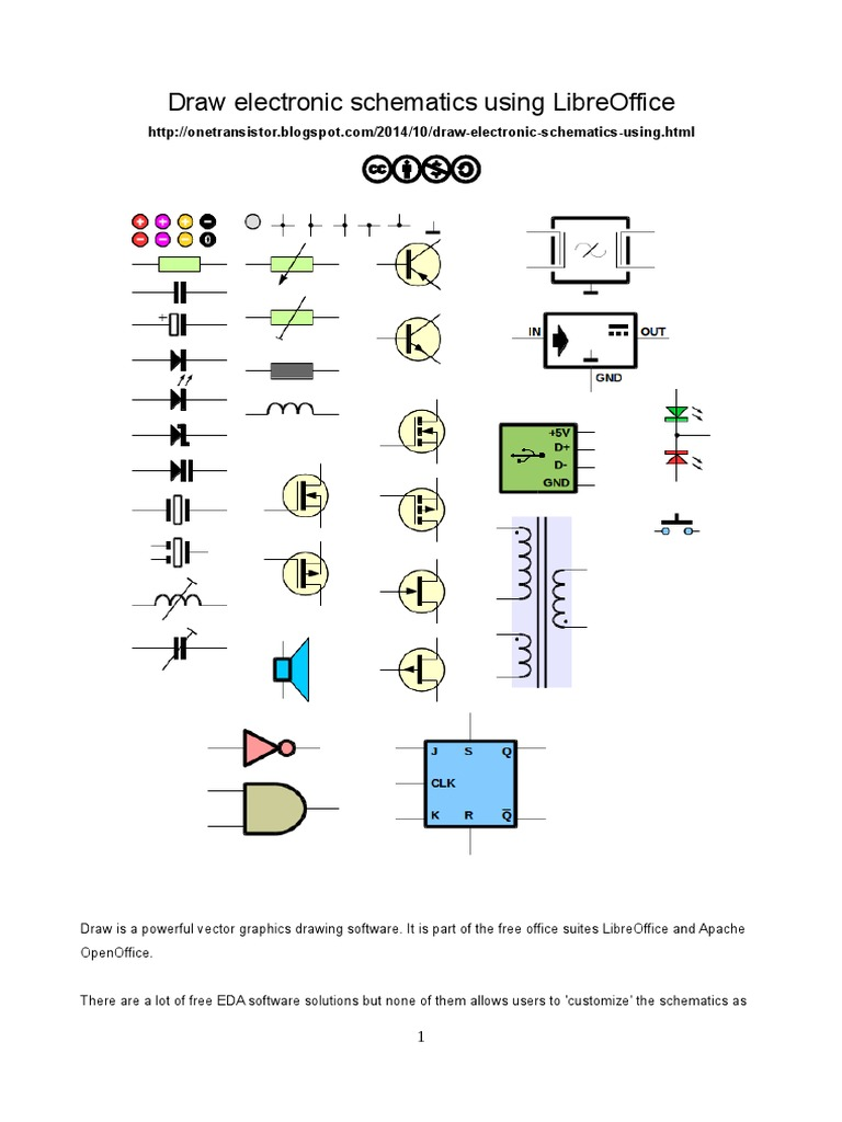 Electronics schematics in LibreOffice Draw | Electrical Engineering ...
