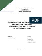 Importancia de la ingenieria civil  en centrales hidroelectricas