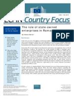 Raportul Comisiei Europene Despre Situaţia Companiilor de Stat Din România Ianuarie 2015