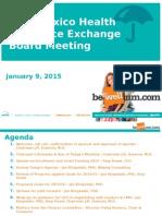 NMHIX Board Meeting, Jan 9, 2015