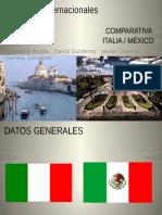 Comparativa de Italia y México
