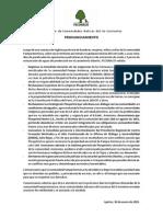 Pronunciamiento Federación de Comunidades Nativas del río Corrientes