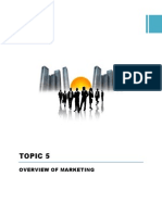 PB201 Topic 5 Overview of Marketing