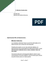 Métodos gradenciales de optimización