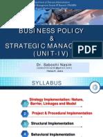 BPSM Unit IV Strategy Implementn 1