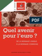Quel avenir pour l'euro ?