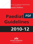 Paediatric Guidelines 2010