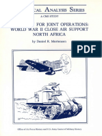 A Pattern for Joint Operations. World War II Close Air Support, North Africa