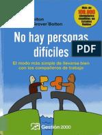 No Hay Personas Dificiles - Bolton, Robert - Grover Bolton, Dorothy