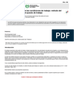 NTP 387. Evaluación de Las Condiciones de Trabajo