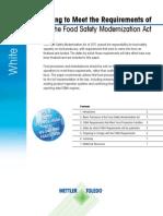 Food Safety Modernization Act en 1014